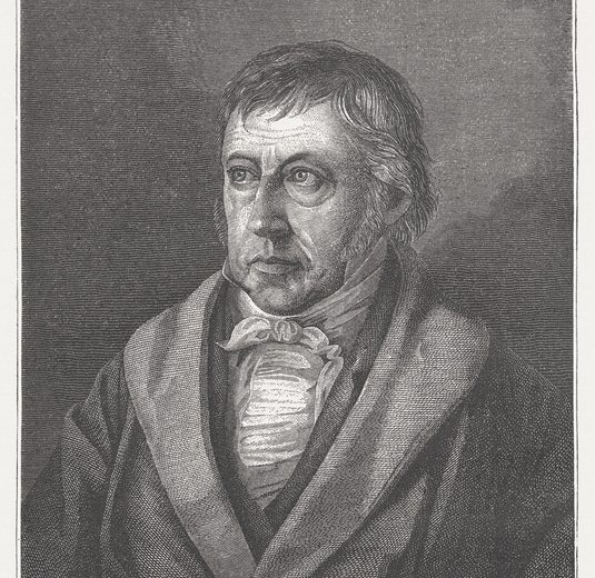 Georg Wilhelm Friedrich Hegel (1770 - 1831) was a German philosopher. He is regarded as the most important representatives of German idealism. Woodcut engraving, published in 1882.